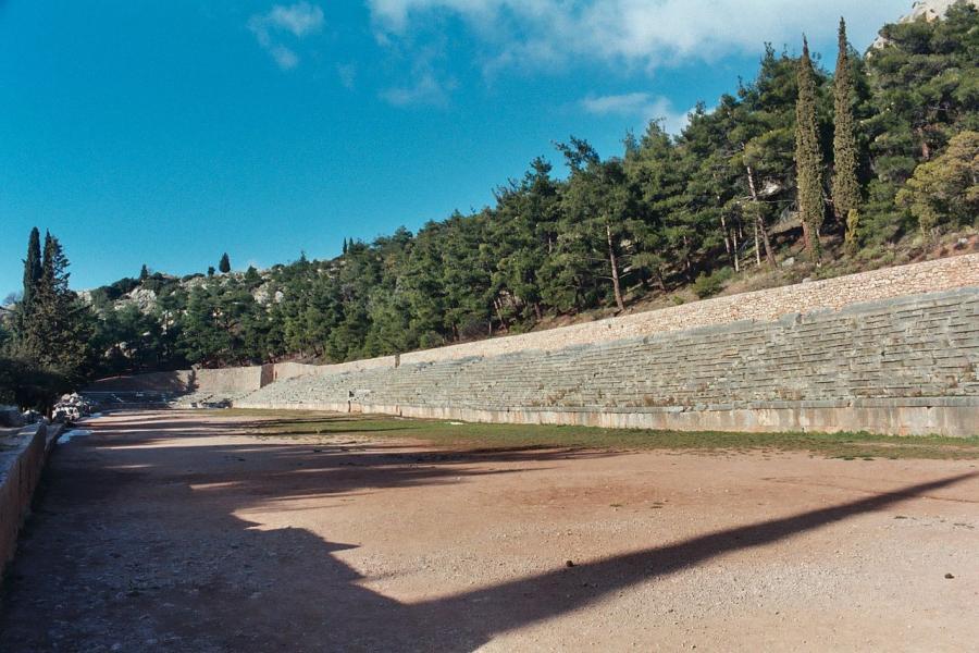 Delphi, Delphi, Phocis Ancient Stadium of Delphi  Photo by Sam Korn wikipedia.org