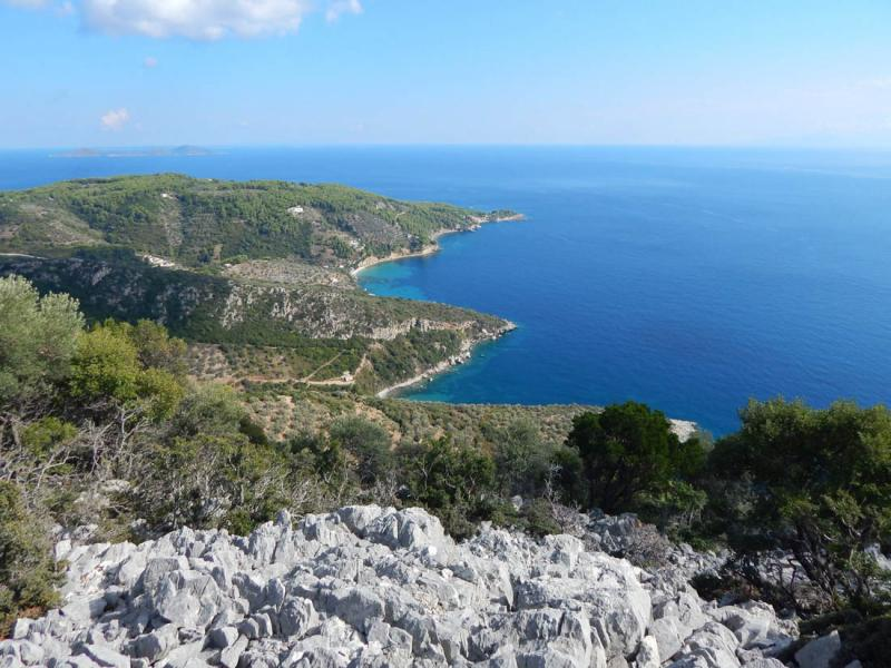 Alonnisos Island Kalovoulos mountain - cape  Photo by Vasilis Drosakis