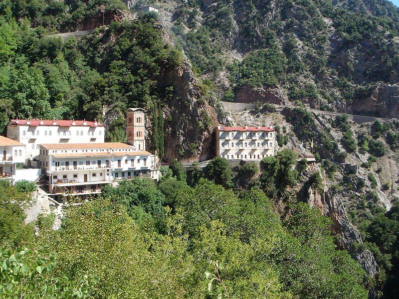 The Orthodox monastery of Prousos in Evritania, Greece. Photo by Georgios Pazios