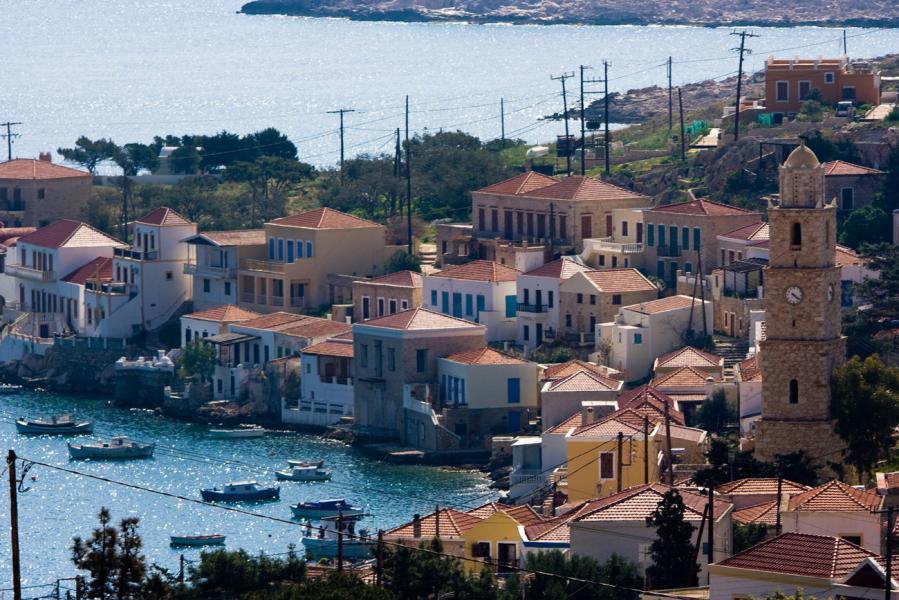 Halki Island Halki from above