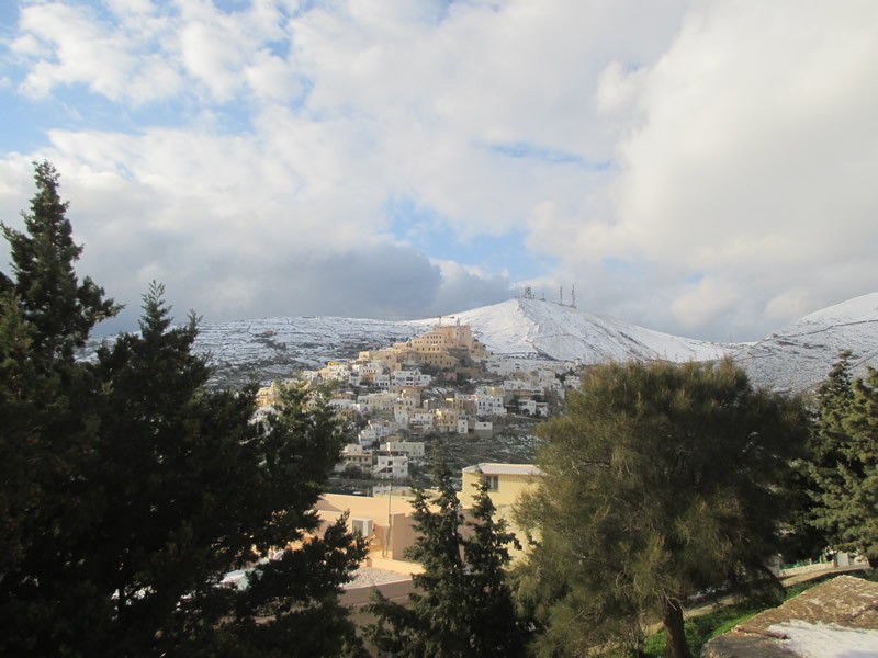Ano Syros, Syros, Syros Island Winterly Snowy Ano Syros - View fro Anastasi/Dili  Snow at Ano Syros on 8th of January 2015