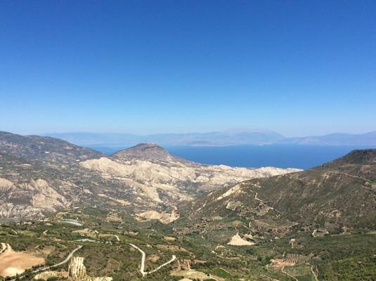 View from Profitis Ilias