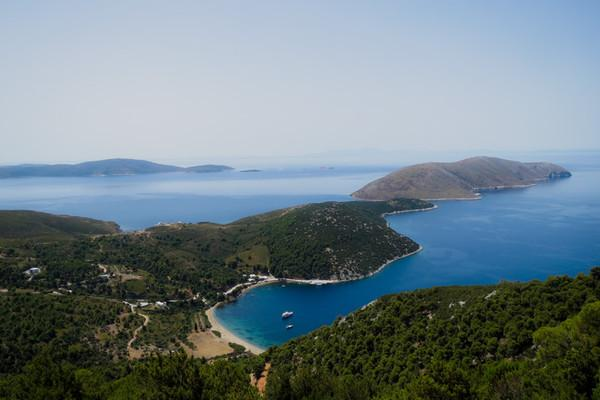 Skyros Island Infinite blue  View from up top - by tonino
