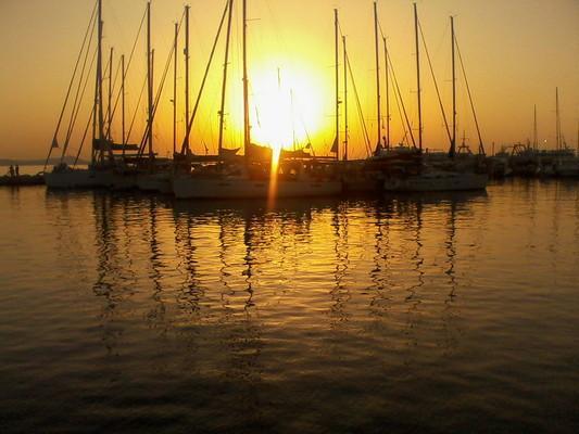 Naxos Town, Naxos, Naxos Island Naxos Island  Sunset at Naxos Chora - by Κυριακή