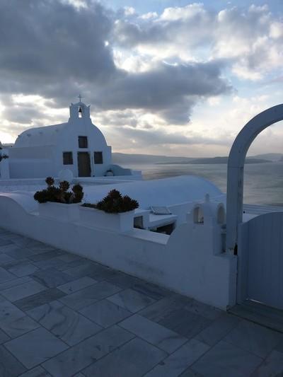 Oia, Santorini, Santorini Island Cloudy Oia  A cloudy day in Oia - by Stavros