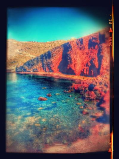 Red beach in Santorini - by Stavros