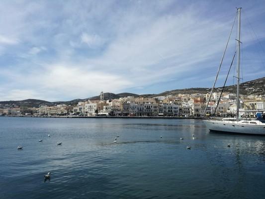 Ermoupoli, Syros, Syros Island Port  View - by Revekisious