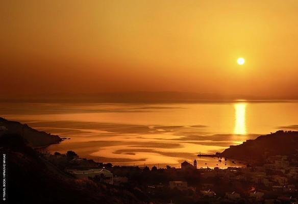 Kini, Syros, Syros Island kini sunset  kini sunset - by Loukia