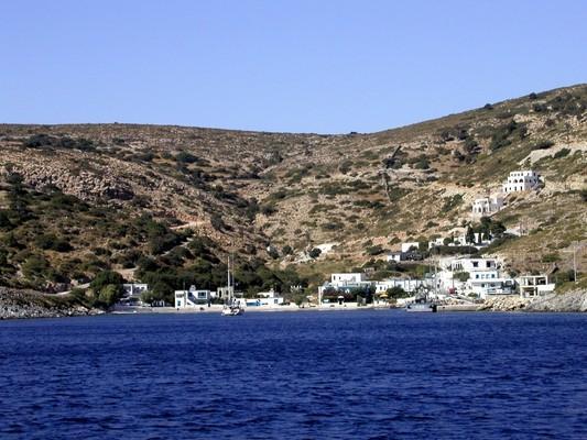 Agathonisi Island Agathonisi Island  The small harbor of Agios Georgios. Photo by HHHoffmann, wikipedia.org