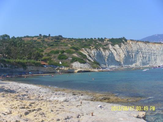 Kefalonia Island Beach  A very beautiful beach by the mountain. - by militsamilenkova