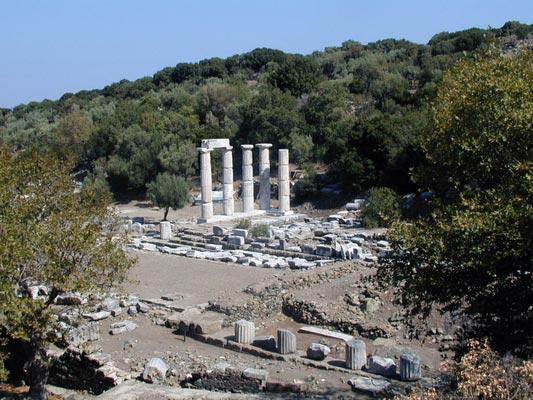 Vasilikos, Igoumenitsa, Thesprotia General view of the remains of Hieron  photo by Marsyas, wikipedia.org